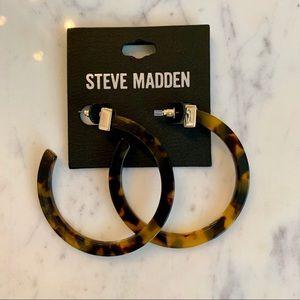 Steve Madden Jewelry - Steve Madden Tortoiseshell Hoops